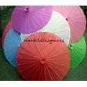 Sombrillas de colores sin decorar . 10 colores
