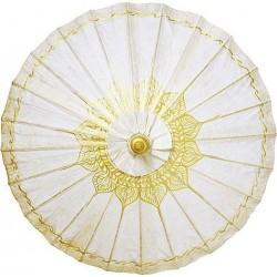 Parasol de novia filigrana dorada