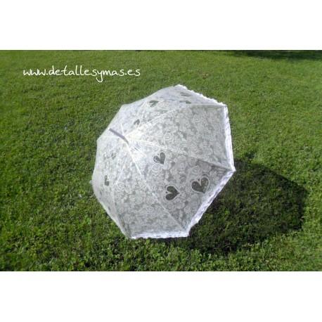 Paraguas para novia automático
