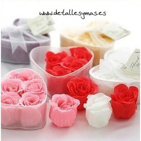 Set de 6 rosas de jabón