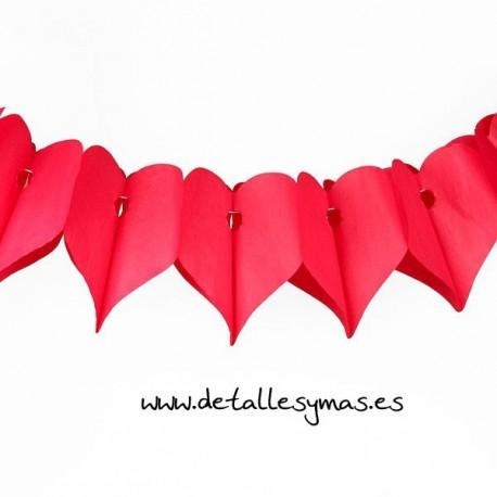 Guirnalda corazones rojos