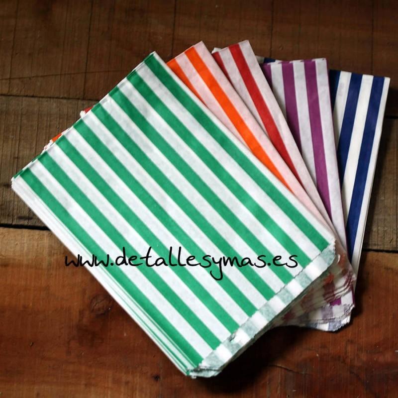 Bolsas de rayas para chuches - Papel de rayas ...