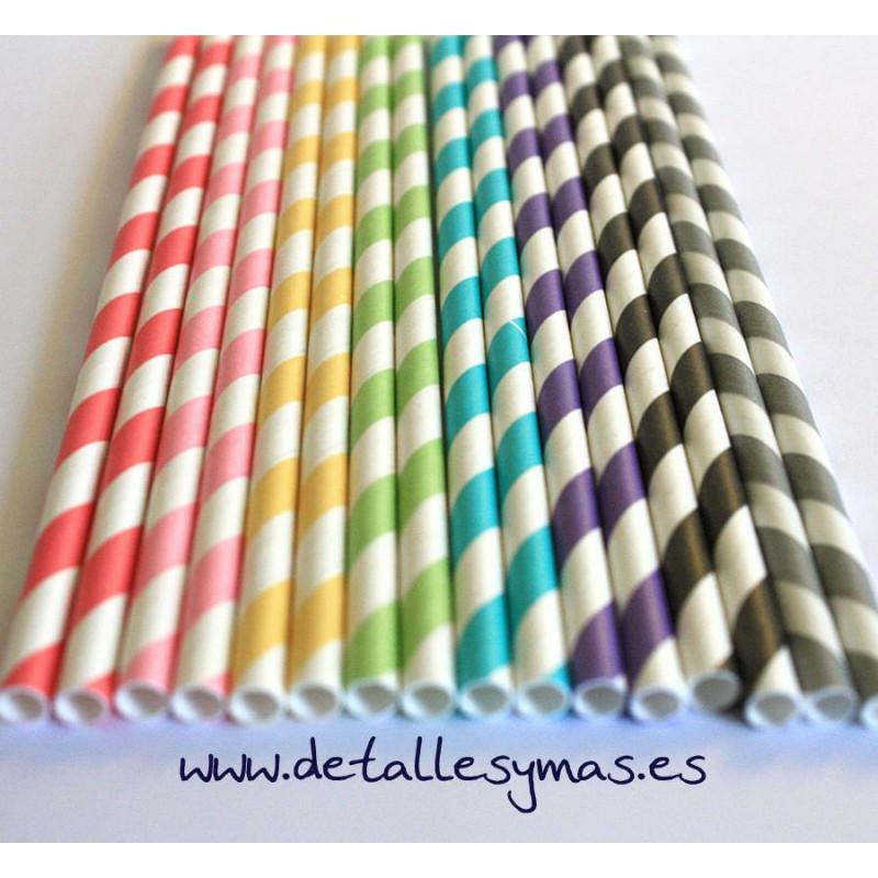 Pajitas de papel a rayas - Papel de rayas ...