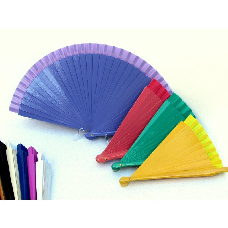 Abanico de madera en colores for Abanico de colores