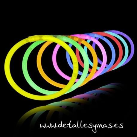 Pulseras fluorescentes . 50 barras