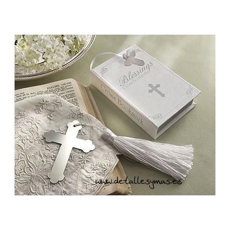 Marca páginas cruz en caja biblia