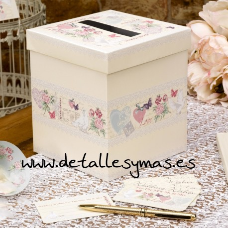 Caja para tarjetas With Love