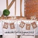 Letreros para sillas Mr and Mrs