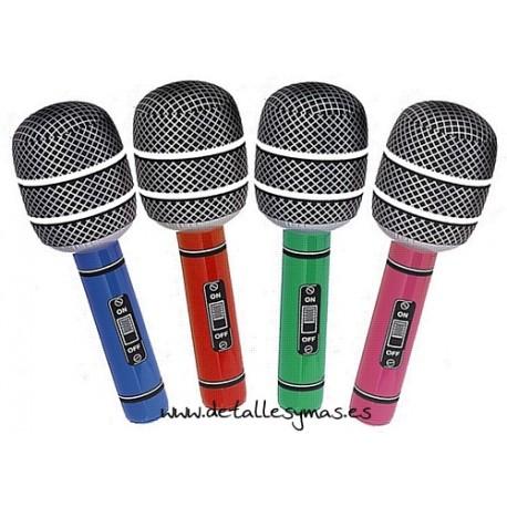 Micrófono hinchable