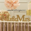 LETRAS DE MADERA MR AND MRS ORO.