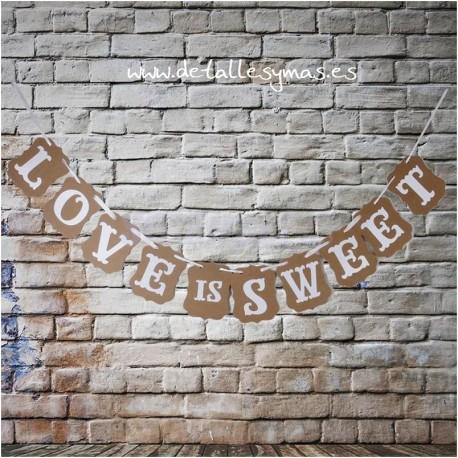 Banderines Love is Sweet Kraft