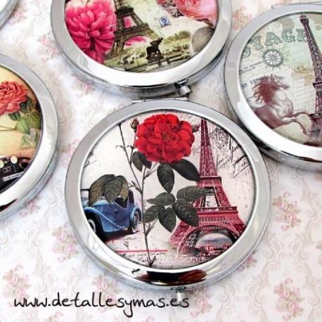 Espejo metálico Chic Paris
