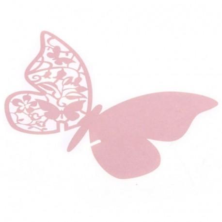 Mariposas Marcasitios Rosa .Pack 12 unidades