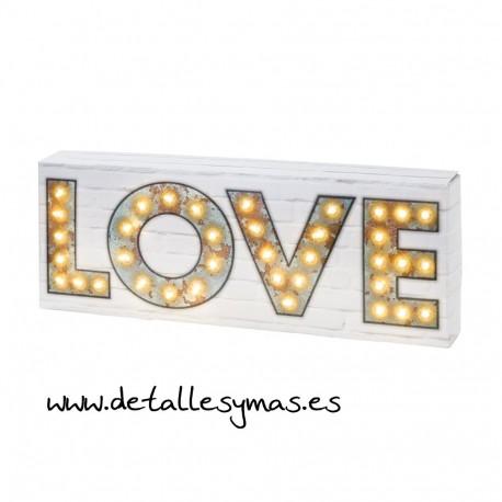 LOVE con luces