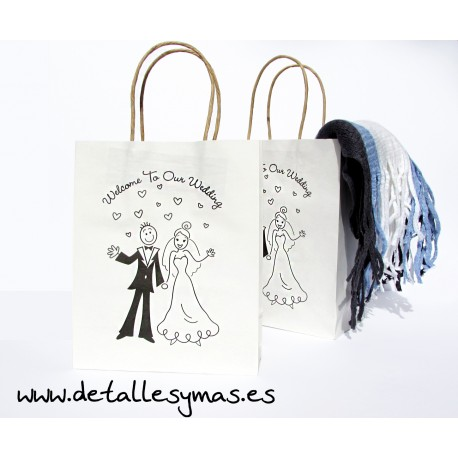 Bolsas con asas Our Wedding