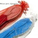 Bolsas de organza para alpargatas . 15  x 35  cms