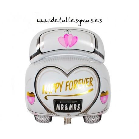Globo coche Recién casados
