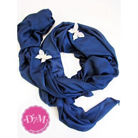 Pashmina Azul Noche de Viscosa 100%