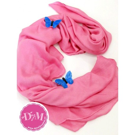 Pashmina Rosa Chicle de viscosa 100%