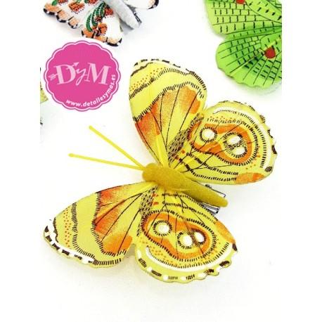 Mariposas Fantasía Amarillas .Pac 10 ud
