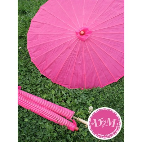 Parasol fucsia de tela