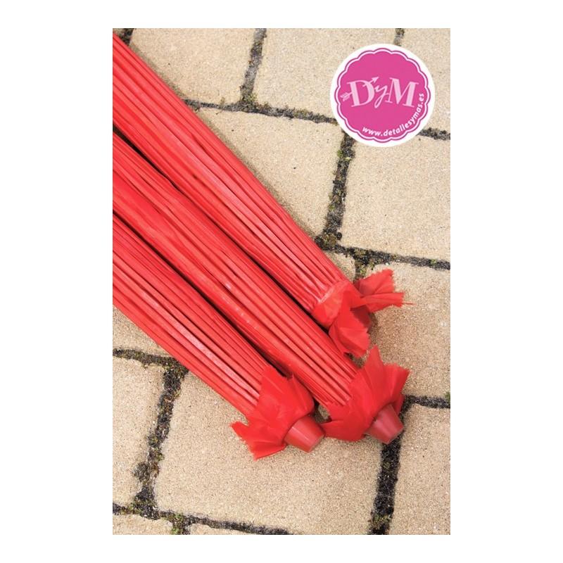 Parasol rojo de tela for Tela para sombrillas