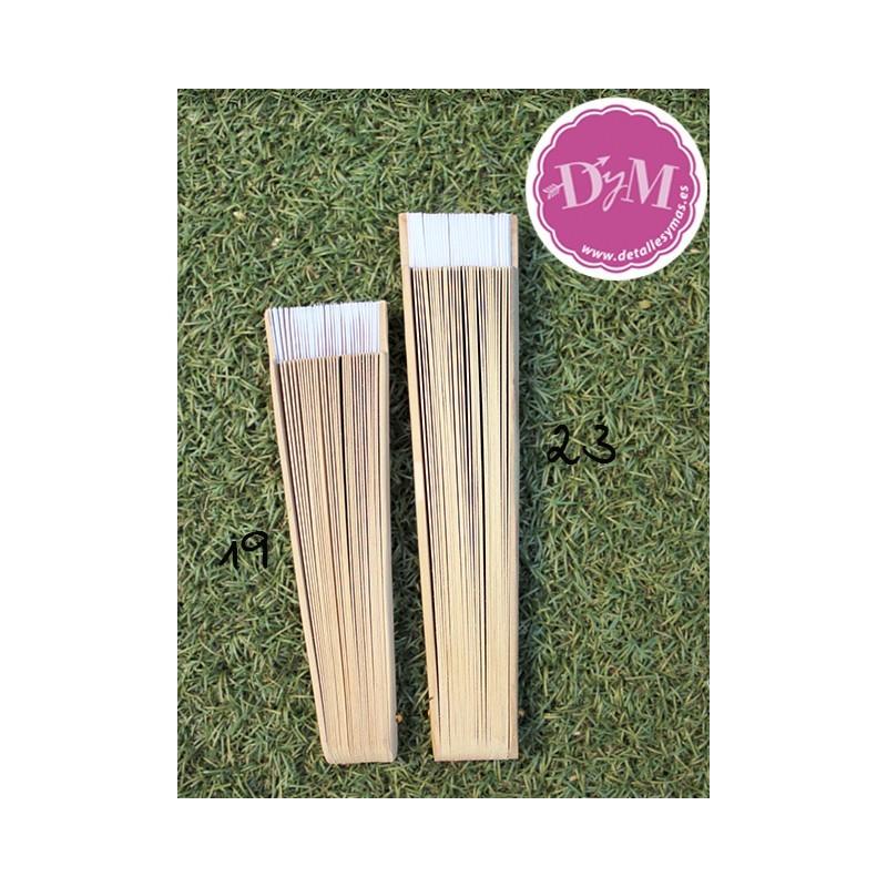 Abanico lacado color natural - Lacar madera en blanco ...