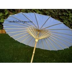 Parasol blanco de papel de arroz .82 cms