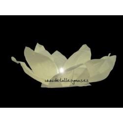 Lámparas flotantes blancas flor de loto