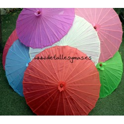 Sombrillas de colores sin decorar . 10 colores