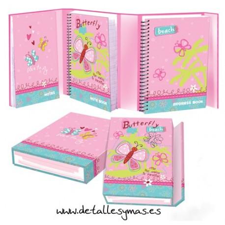Diario libreta Butterfly