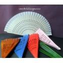 Abanicos calados 23 cms .Colores variados