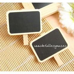 Pizarras rectangulares con pinza