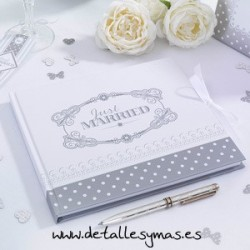Libro de firmas Love chic Plata