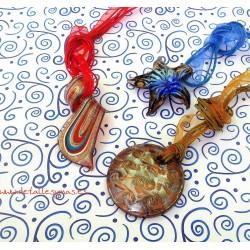 Colgantes de cristal estilo Murano