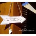 Mini flecha Wedding en blanco