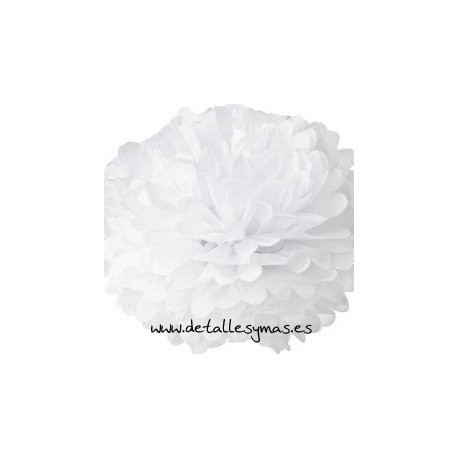 Pom-pom blanco gigante
