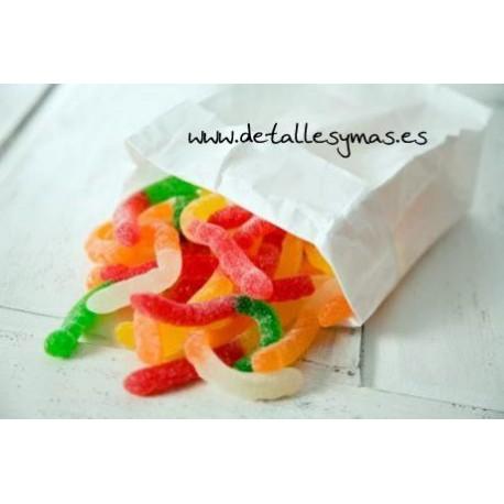 Bolsas blancas para dulces