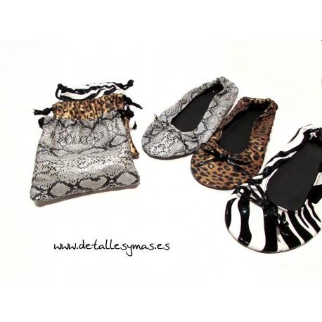 Bailarinas enrrollables Animal Print