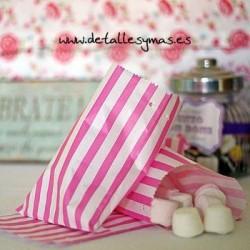 Bolsas de papel rayas