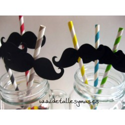 Pajitas con bigotes
