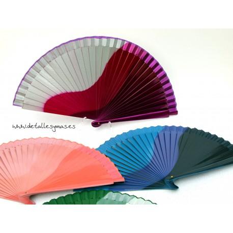 Abanico en colores Degradados 23 cms