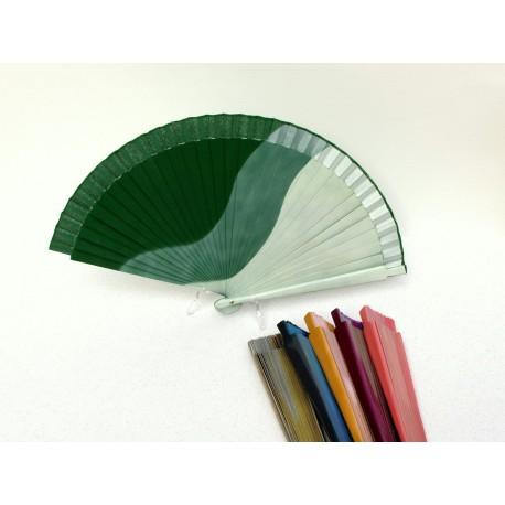 Abanicos colores degradados . 19 cms