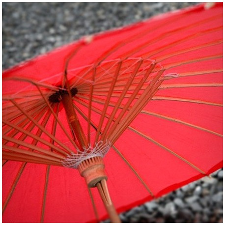 Parasol de papel Rojo 80 cms