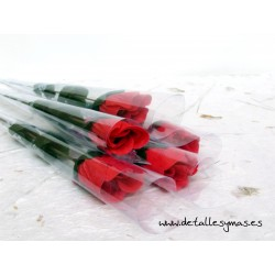 Rosa tallo largo de Jabón