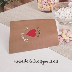 Bolsas para dulces Love is sweet. PACK 25 UNDS