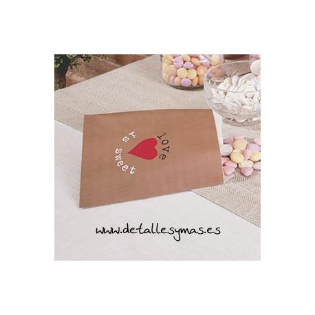 Bolsas para dulces Love is sweet