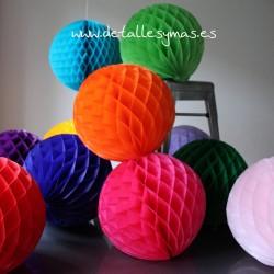 Bolas de papel Nido de abeja .6 colores