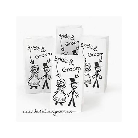 Bolsas de papel para regalo.