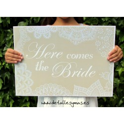 Cartel Here comes the Bride vintage